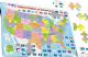 Political Map of the United States of America - Frame/Board Jigsaw Puzzle 29cm x 37cm (LRS  K12-GB)